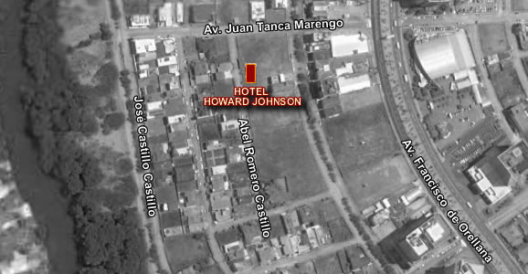 Hotel Howard Johnson Guayaquil, mapa