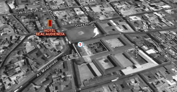 Hotel Real Audiencia Quito, mapa