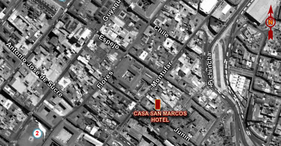 Hotel Boutique Casa San Marcos, map