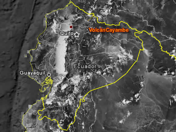 Cayambe Volcano Tour, route map